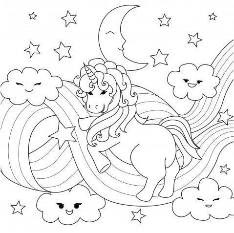 Unicorni Da Colorare E Stampare Mondo Unicorno